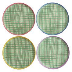 NADI Set of 4 bamboo dinner plates