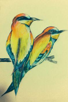 Birds drawing by Alejandra Herrera