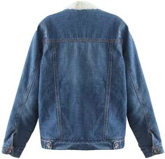 Trendy XU Women Warm Fleece Jean Jacket Faux Fur Lined Denim Coats For Winter M Blue >>> More info could be found at the image url. (This is an affiliate link) #womenscoatsjacketsvests