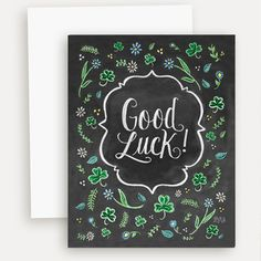 Good Luck - A2 Note Card #Gifts #Irish-Blessing #Note-Cards