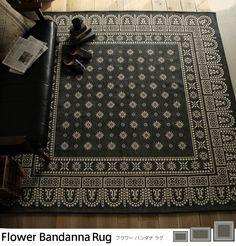 ラグマット Flower Bandanna Rug|家具・インテリア通販 Re:CENO【リセノ】