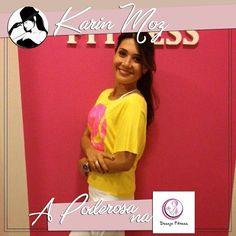 E para finalizar a primeira parte do tour da Poderosa a querida Karin Moz esteve na Desejo Fitness ela adorou a loja e todas as peças!