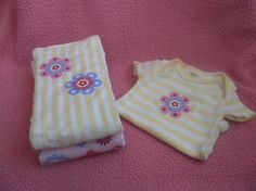 Baby Girl Burp Cloth & Onesie Set  3 month by BananaBugBoutique, $24.00