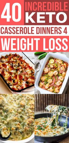These easy keto casserole recipes are awesome for weight loss! Need some amazing low carb dinners? Check out this list of the best keto casseroles ever!!!