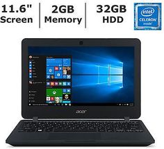 #Acer TravelMate Notebook, Intel Celeron N3050 Processor, 2GB Memory, 32GB HDD #coupons #deals