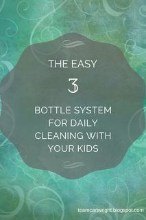 Team Cartwright: 3 bottles for daily cleaning that lets your toddlers, preschoolers, and kids help!