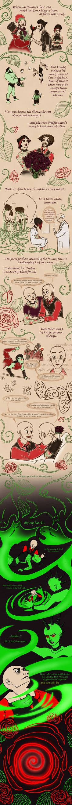 As You Were: Lydia's Story by Sarapsys on deviantART I've always wondered how they got the way they are.