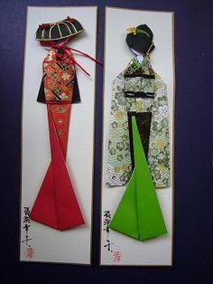 Washi Ningyo: Muñecas Japonesas de Papel - Taringa!                                                                                                                                                     Más