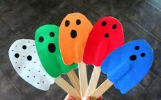Time for Play: The Colored Ghosts Halloween Stories, Theme Halloween, Halloween Activities, Holidays Halloween, Halloween Crafts, Preschool Halloween, Halloween Ideas, Bear Halloween, Toddler Halloween