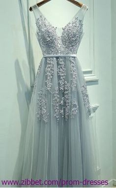 Long Prom Dress with Lace, Lace Formal Dresses HUD0002 by prom dresses, $139.00 USD