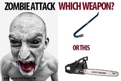 Hmmm which one would you choose? Zombie Weapons, Movies, Movie Posters, Art, Art Background, Films, Film Poster, Kunst, Cinema
