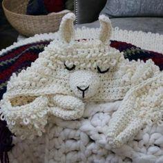 Alpaca my Llama Blanket Crochet Pattern! - MJ's off the Hook Designs Crochet For Beginners Blanket, Crochet Blanket Patterns, Crochet Afghans, Crochet Blankets, Alpacas, Bead Crochet, Crochet Hooks, Crotchet, Llamas With Hats