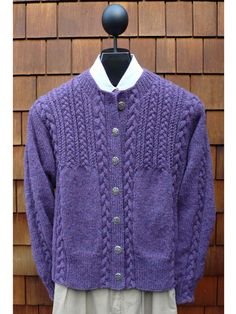 Cables & Twists Cardigan Knit Pattern