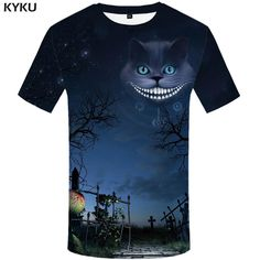 Evil Full Moon Kitty Men's Fashion Sublimation Print T-Shirt. Casual fashion style shirt made using dye-sublimation, a technology that allows the production these insanely vibrant color shirts. - Status: Drop Ship Item Estimated Delivery Time: 12-20 days