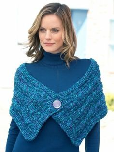 Bring on the cold weather with the Oceanic Cables Wrap. This stylish and sophisticated knit wrap pattern features a simple cable design and lovely seed stitch border. Knitted Capelet, Crochet Shawl, Knit Crochet, Shawl Patterns, Knitting Patterns Free, Free Pattern, Crochet Patterns, Knit Wrap Pattern, Shrugs And Boleros