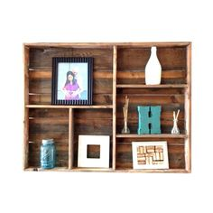 Reclaimed wood wall shelf - large