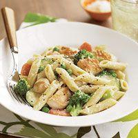 Creamy Chicken & Pasta - Incorporates lots of veggies.