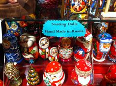 nesting dolls at The Christmas Shop in Williamsburg