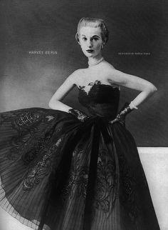 Mary Jane Russell, January Harper's Bazaar 1952