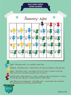 January 2015 Disney World Crowd Calendar  What will the crowds be like in January 2015? Dad knows. Check out our January calendar.