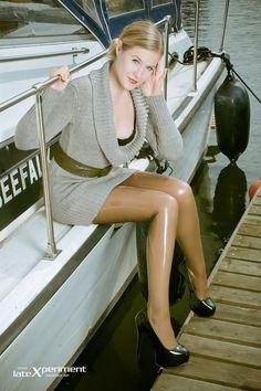 Ankha van Ayken in Latex Rubber stockings/pantyhose