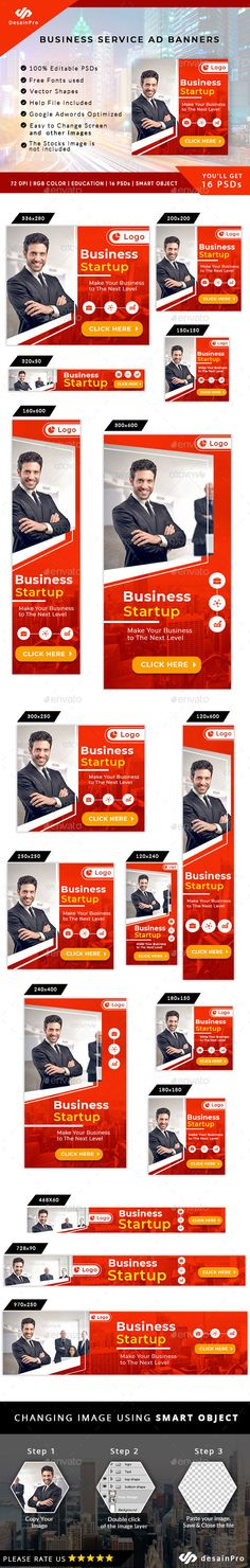 Business Solutions Ad Banners - AR Business Shirts, Business Names, Brand Book, Information Graphics, Vector Shapes, Color Shapes, Start Up Business, Banner Template, Business Branding