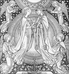 Braut Christi, Vintage Holy Cards, Jesus Christus, Fabric Wall Art, Virgin Mary, Occult, Wall Murals, Canvas Wall Art, Initials