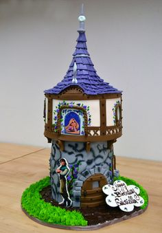 Custom Birthday Cake. Rapunzel cake.    Palermo's Bakery creates custom cakes, wedding cakes, birthday cakes, graduation cakes, cake pops, cupcakes, cookies, custom dessert tables and serves the New Jersey/New York Area