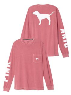 Campus Long Sleeve Tee PINK | victoria's secret. | Pinterest ...
