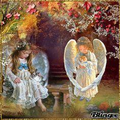 Angel Images, Angel Pictures, Angel Kisses, Angel S, Gif Animé, Animated Gif, I Believe In Angels, Gif Collection, Dear Mom