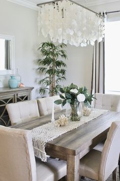 They broke ground in September and was finished being built … Farmhouse Dining Room Table, Dining Room Blue, Dining Room Table Decor, Dining Table Design, Room Decor, Dining Rooms, Dining Room Inspiration, Room Tour, Home Decor Kitchen