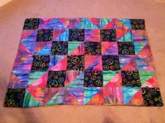 peace sign quilt I made when I was 12