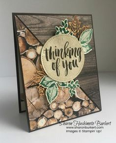 Rooted in Nature Natures Roots framelits Seasonal Layers thinlits Wood Textures DSP; Shaded Spruce Soft Suede Early Espresso copper foil sheets and metallic thread Masculine Birthday Cards, Birthday Cards For Men, Masculine Cards, Karten Diy, Get Well Cards, Fall Cards, Sympathy Cards, Diy Cards, Men's Cards