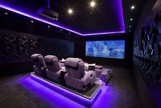 Home Theater Setup with Home Theater Seating Home Theater Room Design, Movie Theater Rooms, Home Cinema Room, Home Theater Furniture, Home Theater Decor, Best Home Theater, Game Room Design, Home Theater Seating, Home Theatre