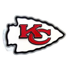 Kansas City Chiefs Large Hitch Cover Class II and Class III Metal Plugs