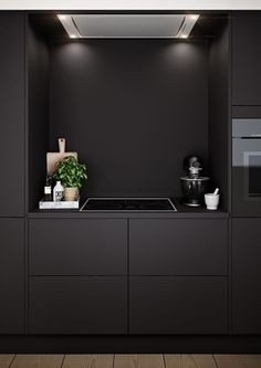Bilderesultat for hth focus sort laminat Black Kitchens, Home Kitchens, Bedroom Pictures, Activities For Kids, Beautiful Pictures, Interior Design, Wall, Inspiration, Small Bedrooms