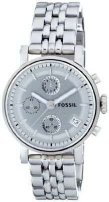 Relógio Fossil Women's ES2198 Stainless Steel Bracelet Silver Analog Dial Multifunction Watch #relogio #fossil