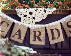 We Tied The Knot Burlap Wedding Banner By TheGlitteredBarn