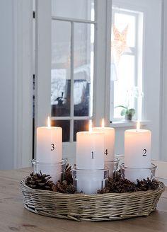 advent candles /Anna Truelsen interior stylist