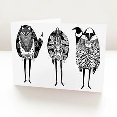 The Three Connoisseurs Card by GenevieveRyan on Etsy #illustration #animals #animalmen #fox #goat #skunk