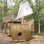 10′ x 6′ Pirate Ship playhouse