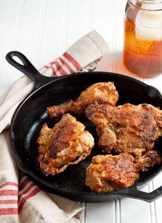 Hey yo! It's oven-fried chicken soaked in sweet tea. I thought you might like this ;) @DessertForTwo
