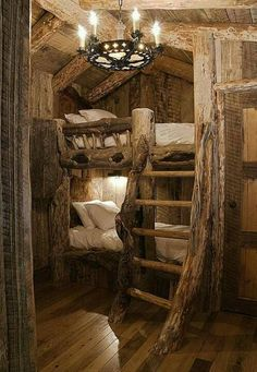 Bunk beds natural construction