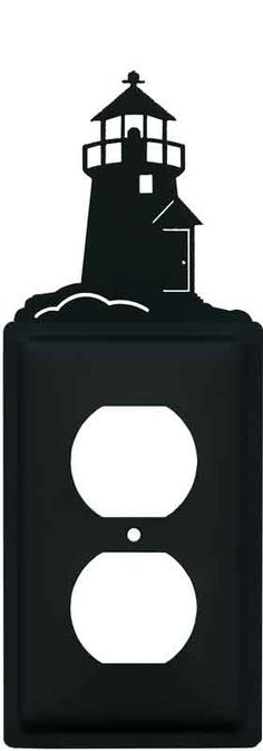 Lighthouse Black Light Switch Plates, Outlet Covers, Wallplates