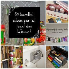 HOME & GARDEN: 50 (new) tricks to store everything in the house! Home Organisation, Organization Hacks, Home Management, New Tricks, Home Staging, Getting Organized, Declutter, Diy Design, Sweet Home