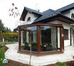 Ogród Zimowy Kraków 5 - Średni ogród za domem, styl klasyczny - zdjęcie od Alpina Design Ogrody Zimowe & Szkło Architektoniczne - homebook