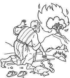 moses burning bush printable coloring pages | The Incredible Moses Burning Bush Coloring Page to ...