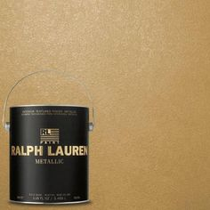 Ralph Lauren 1-gal. Golden Buttermilk Gold Metallic Specialty Finish Interior Paint-ME133 at The Home Depot
