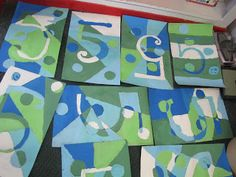 Do Art!: Charles Demuth Cool Colors Number Five Art Project
