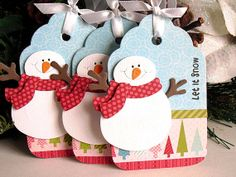 Let+It+Snow+SNOWMAN+Tags+by+StephanieMatsunaka+on+Etsy,+$4.50